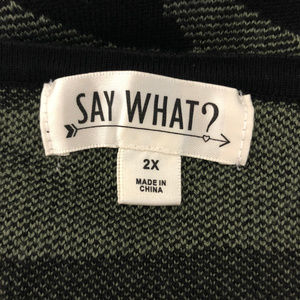 Say What? Dresses - Say What? Sweater Dress Camoflage Long Sleeve 2X